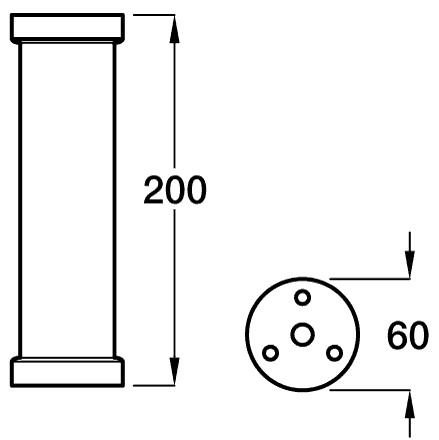diagram showing measurements of the straight breakfast bar legs