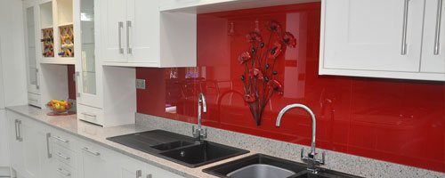 photograph of a kitchen splashback installed by our fitters