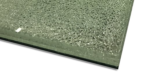 close up photo of crackle effect glass - also known as crackle effect