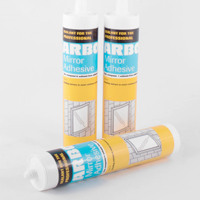 photo showing 3 tubes of mirror adhesive
