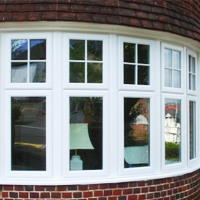 double glazed sealed units shown outside of a upvc frame