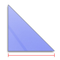 triangle image showing length to be measured