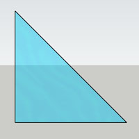 triangular glass shaped icon